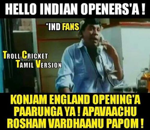 T20 Worldcup Indian Openers Tamil Memes and Trolls