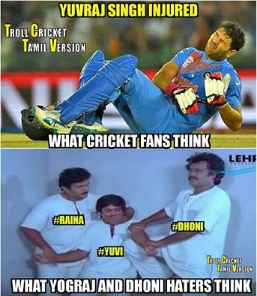 Yuvraj injury trolls and memes in tamil