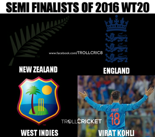 Team india t20 semifinal loss memes and trolls
