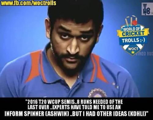 Dhoni different memes and trolls
