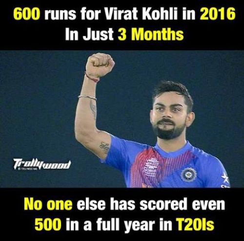 Virat Kohli highest scorer in T20 2016