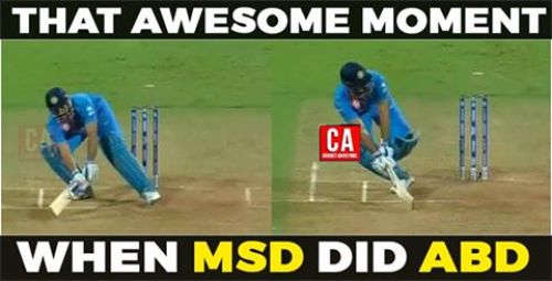 MSD plays ABD shot