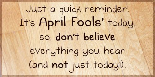 April fools day quote pics