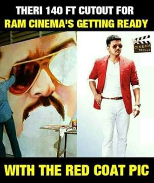 Theri ramcinemas vijay cut out
