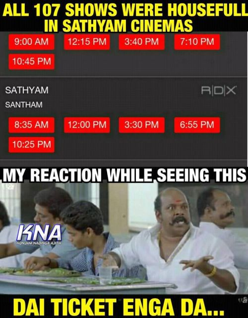 Theri movie ticket booking all 107 shows houseful in sathyam cinemas memes & trolls