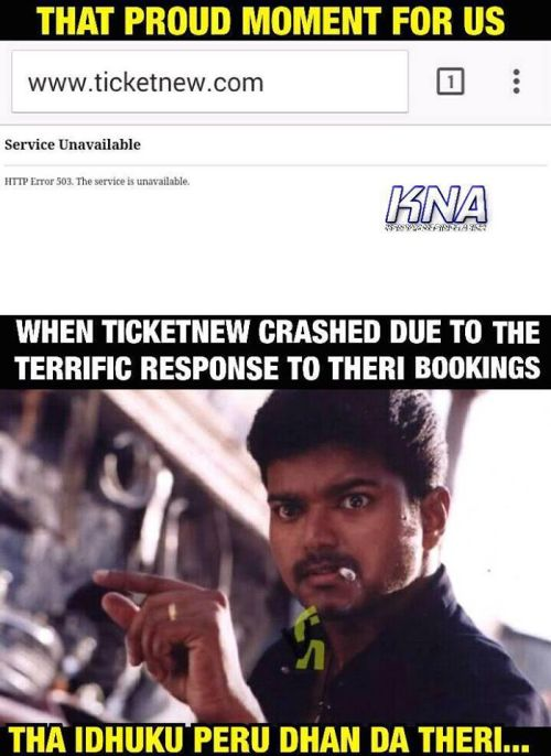 Ticketnew site crashed due to terrific response to theri bookings