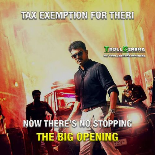 Theri got tax exemption