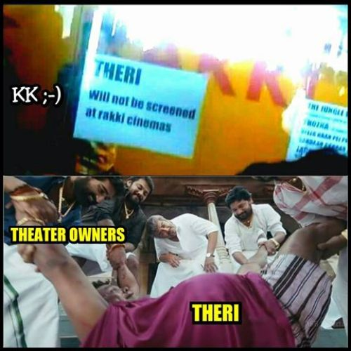 Theri no theatre to screem troll memes