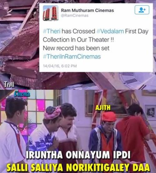 Theri record box office collection memes