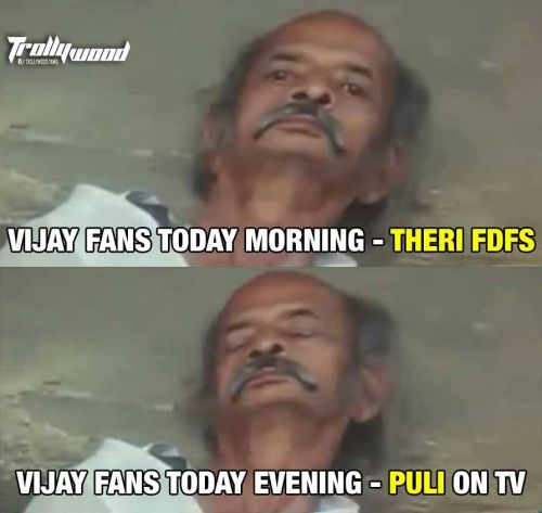 Theri movie release day trolls