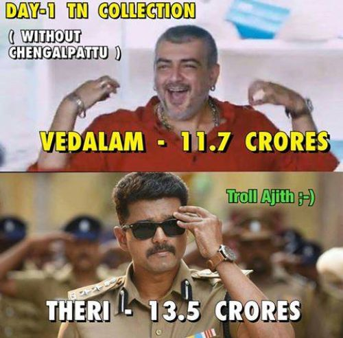 Theri first day box office collections report