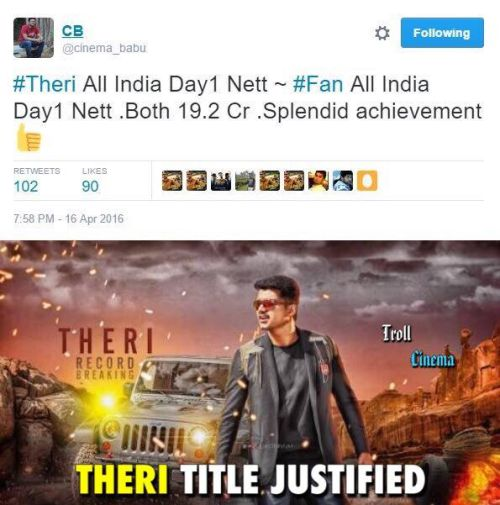 Theri collections hit memes