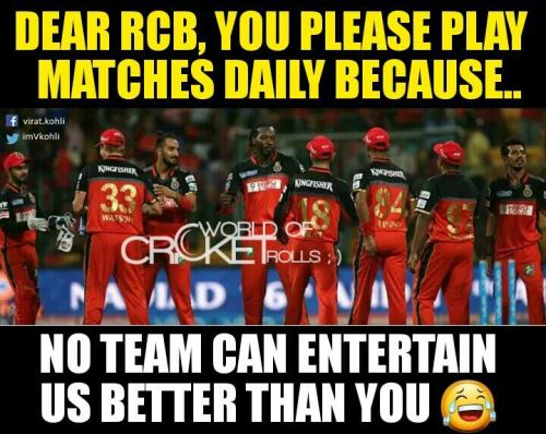 RCB Team Entertainment Memes