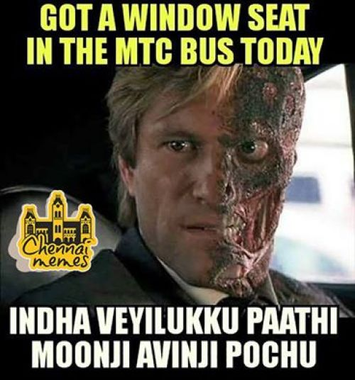 Travelling in chennai city during summer memes
