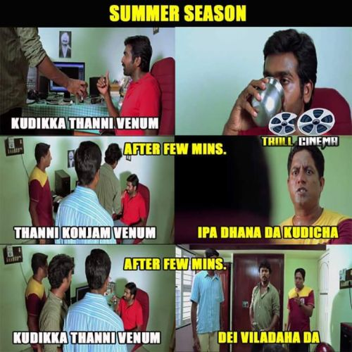 Tamil summer climate memes and trolls