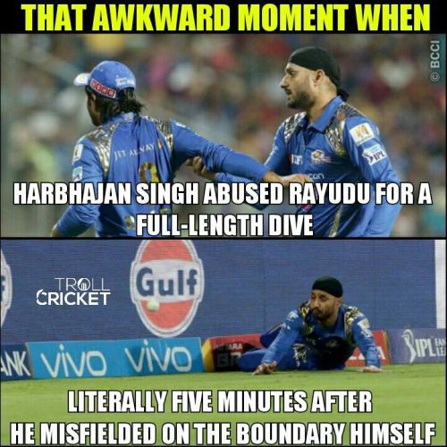 Harbhajan and rayudu fight trolls and memes