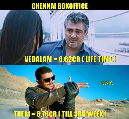Theri beats vedalam box office collection memes