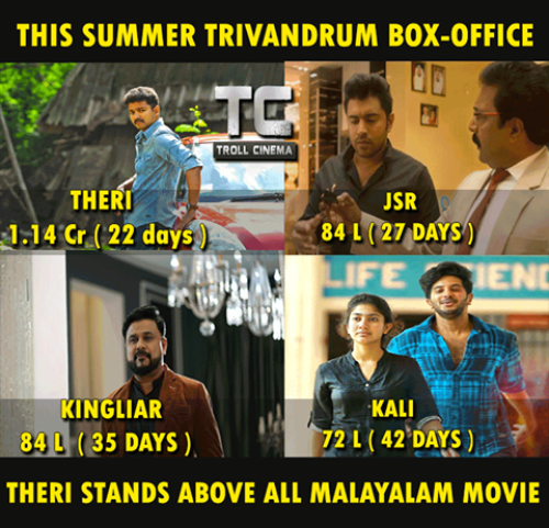 Theri Trivandram Kerala Box office success memess