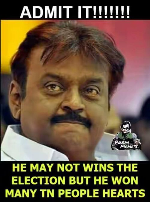 Captain vijayakanth kootani lost in 2016 tn election memes