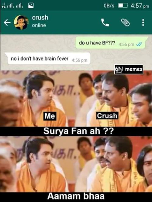Suriya slap boy for girl memes