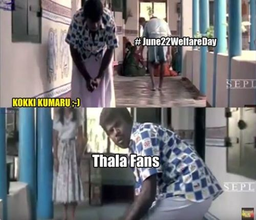 Ajith fans troll vijay fans on twitter