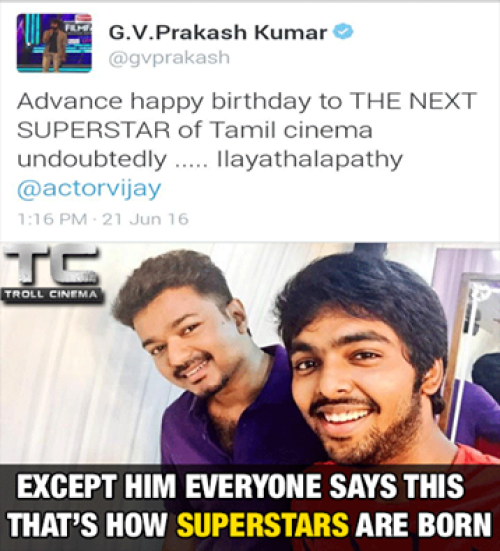 GVP wish Vijay on his bday tweet