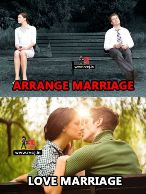Love marriage vs arrange marriage memes