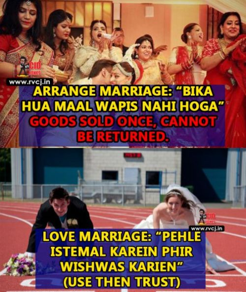 Love vs arrange marriage facebook memes
