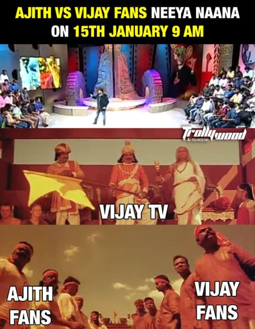 Ajith Vijay Fans in Neeya Naana Video