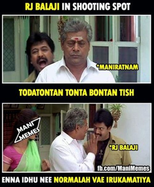 RJ Balaji in Manirathnam movie memes