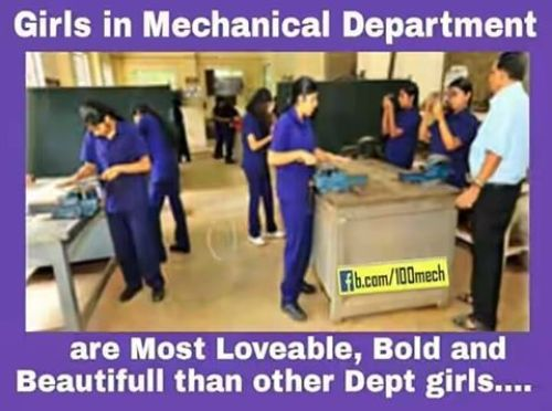 Mechanical department girls photos