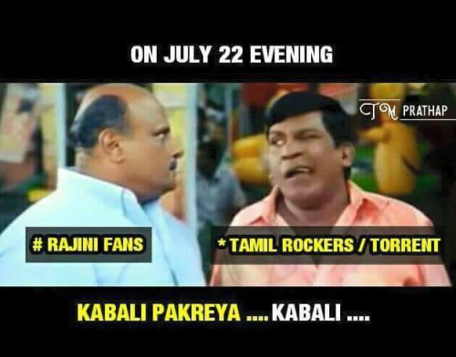 Kabali first day celebration memes