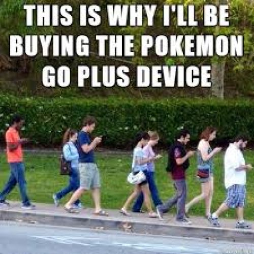 Pokemon go users walking around funny photo memes