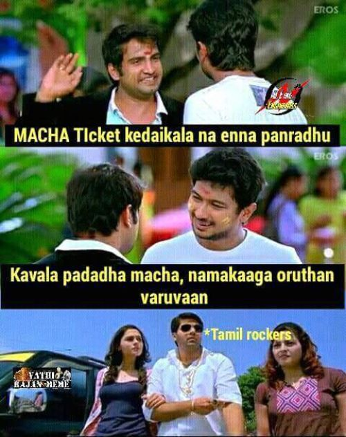 Watching kabali in tamil rockers memes