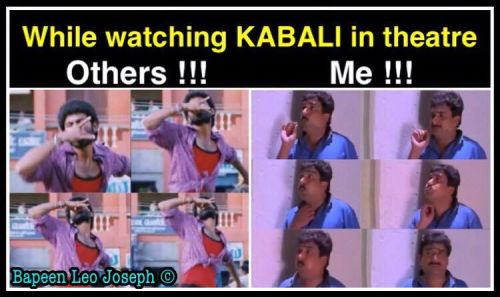 Rajinikanth's kabali movie in tamilgun website memes