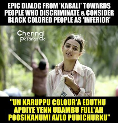Nailed It Kudos to Dir.Ranjith & Team for highlighting this Karuppa irndha enna Manasu Vellaya irndha podhum