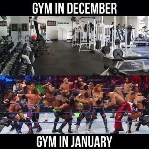 Gym difference on Jan 1st and Jan 2nd