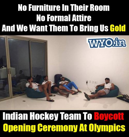 Indian Hockey Team to Boycott Rio Olympics Ceremony