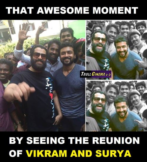 Vikram with Suriya for Spirit of Chennai Song