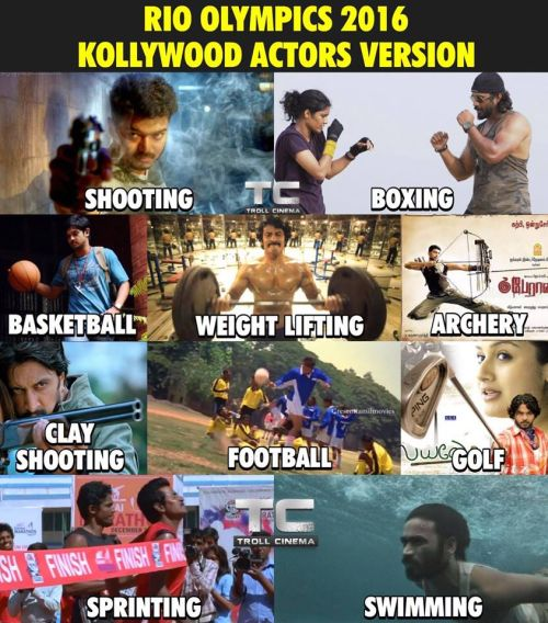 Kollywood actors in rio olympics