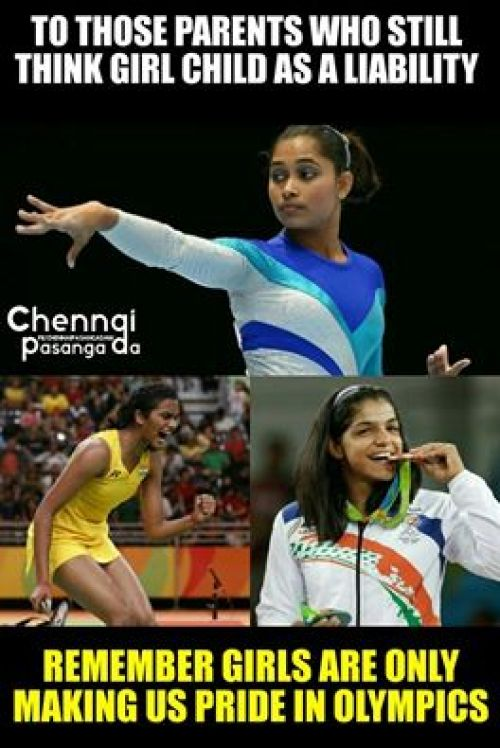 Indian Girls in Olympics Memes