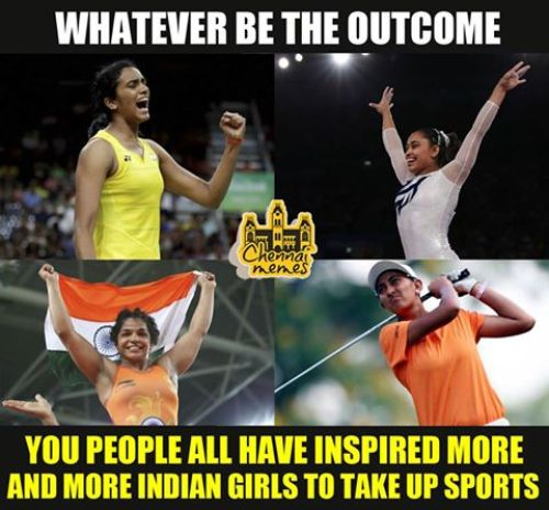 Sakshi Malik and PV Sindhu have won despite Indian govt