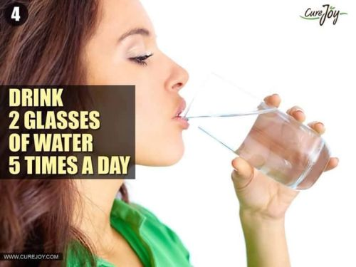 Drink 2 glass of water 5 times a day