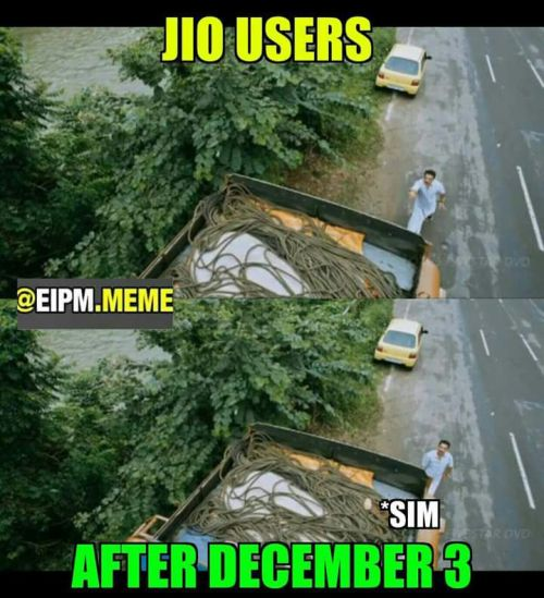 Reliance jio user memes