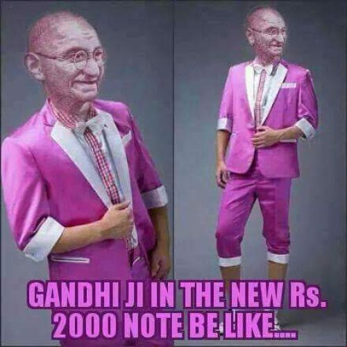 New 2000rs note pink colour memes