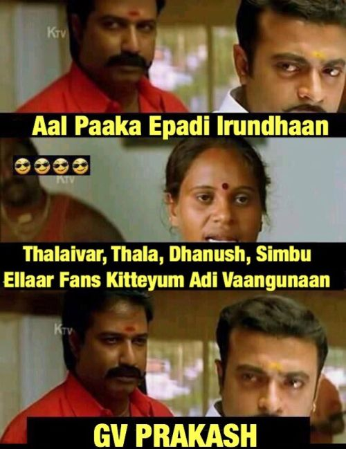 GV Prakash Vs Ajith Fans Twitter Fight Memes and Trolls