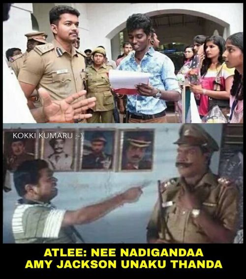 Theri movie memes and trolls 2016