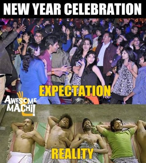 New year expectation vs reality memes