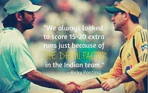 Ponting about MS Dhoni