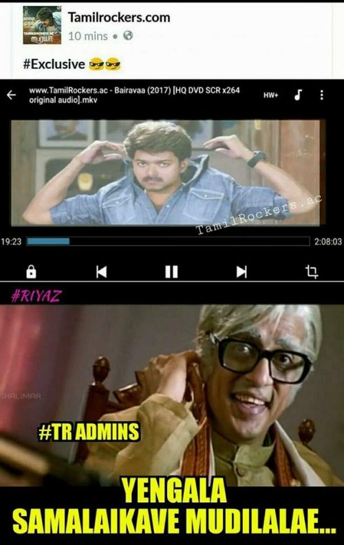 Bhairava Tamilrockers Torrent Memes and Trolls